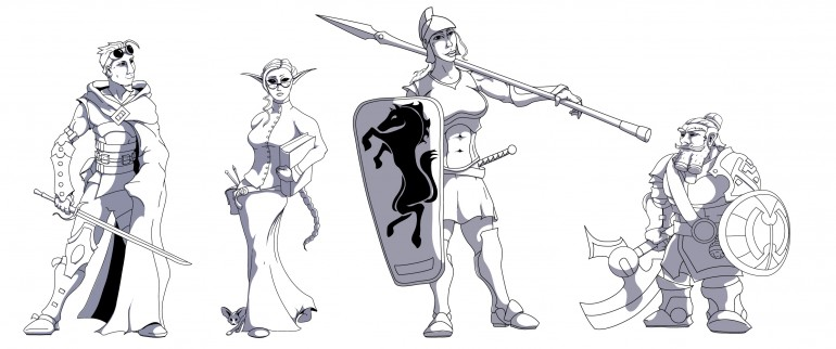 Rusted Iron Characters
